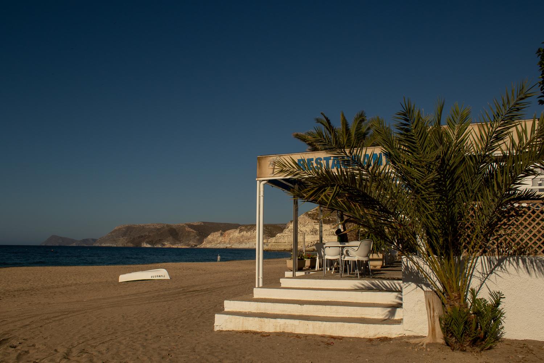 La Palmera Restaurante y habitaciones a pie de playa Agua Amarga